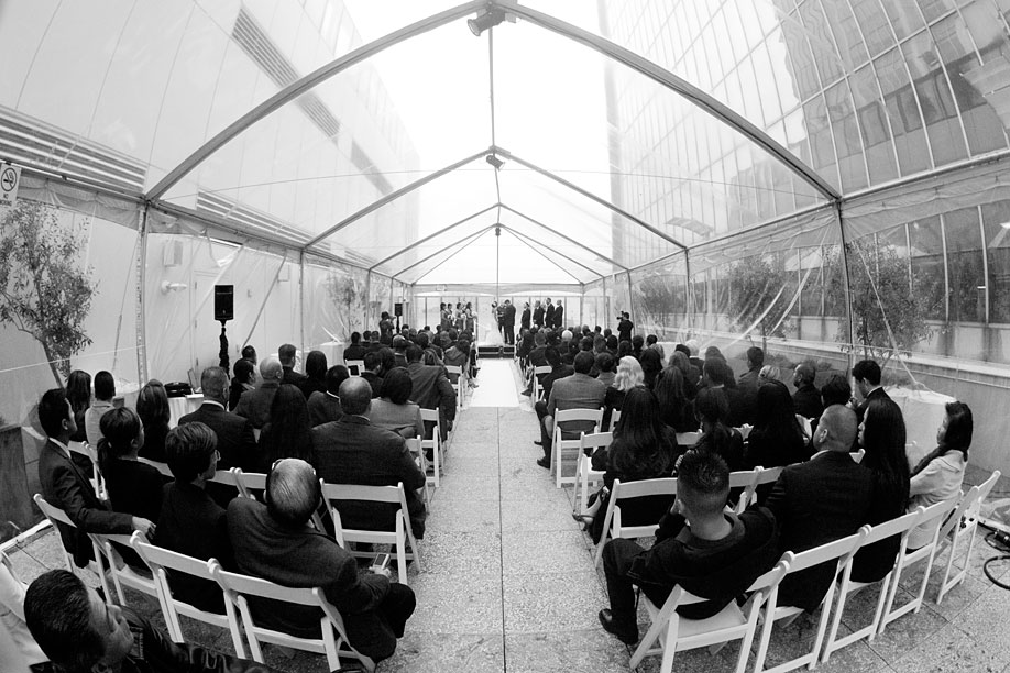 Fisheye View of the Ceremony