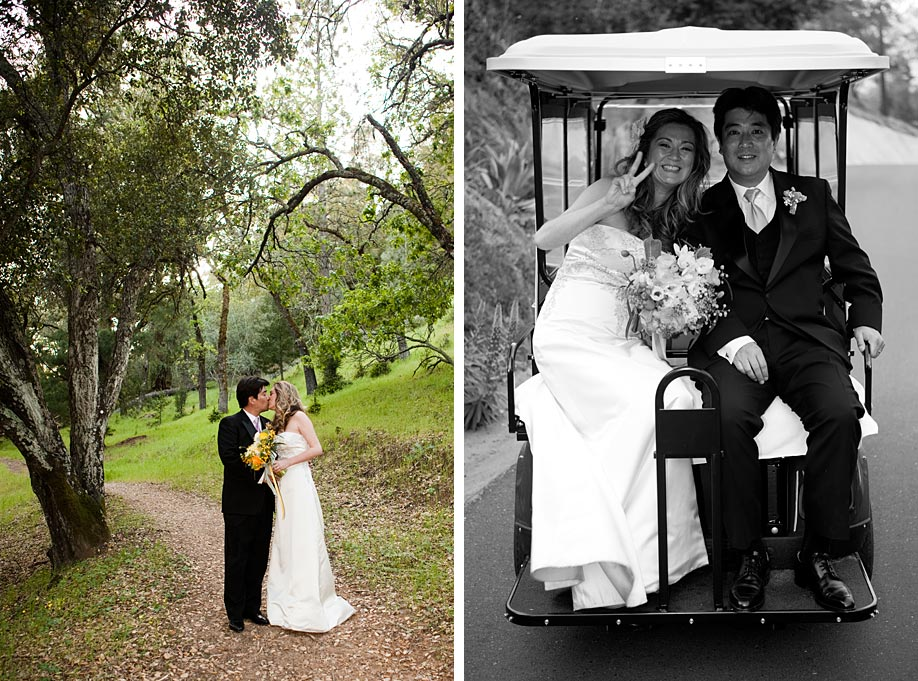 Portrait and Golf Cart