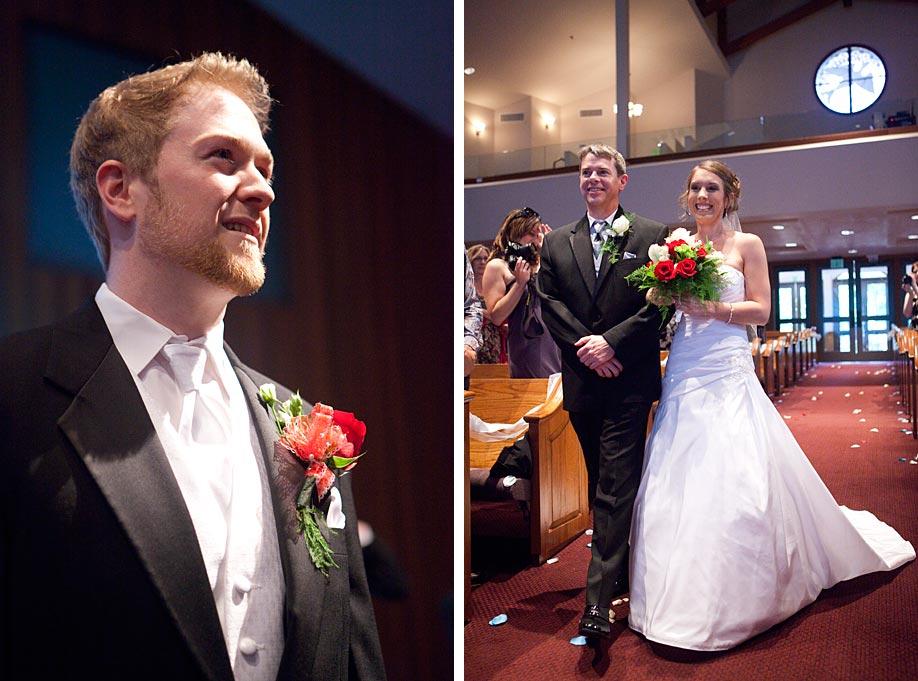 Groom Sees Bride Walk Down Isle