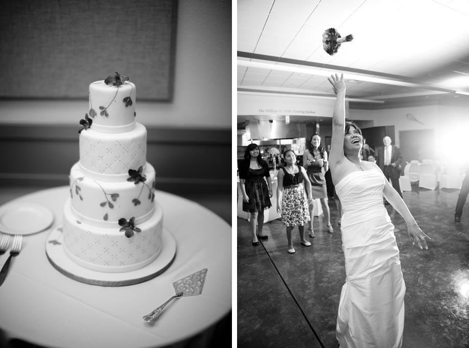 Wedding Cake and Bouquet Toss