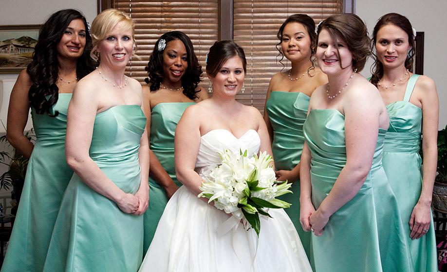 Rhiannon and Bridesmaids