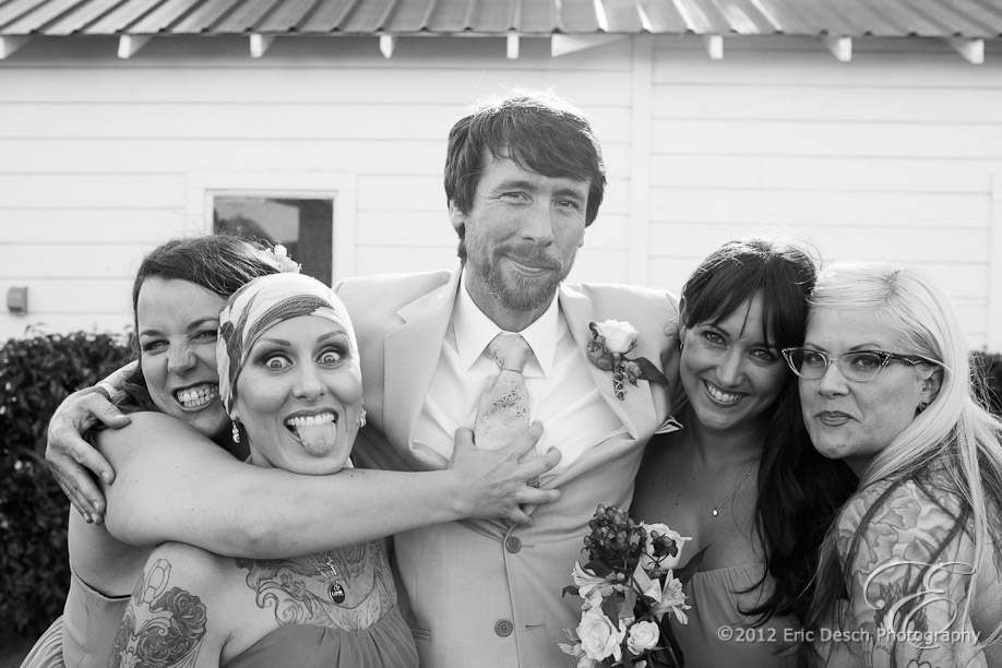 Phil With Bridesmaids