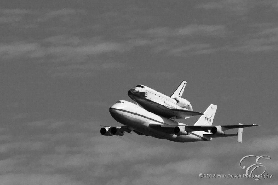 Endeavour in Back and White